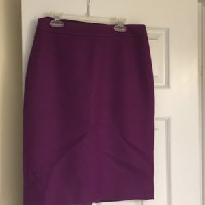Purple J Crew No 2 Pencil Skirt
